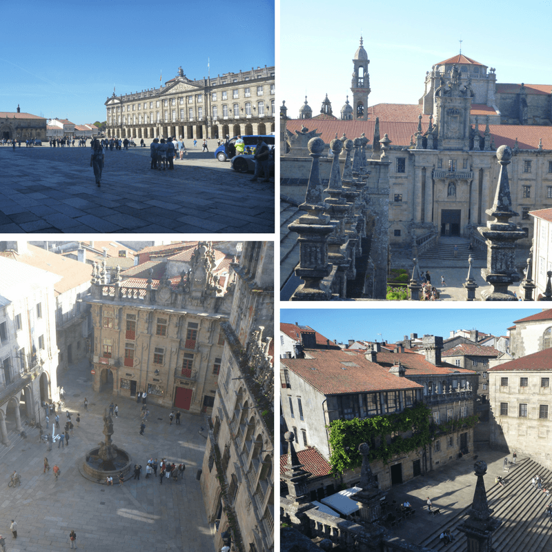 Plaza's of the Cathedral of Santiago de Compostela