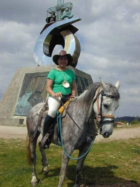 Camino de Santiago on Horseback Mount of Joy