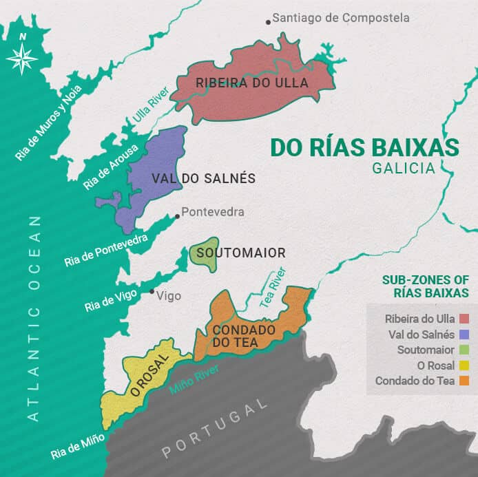 Albarinho Wine Rias-Baixas-Map