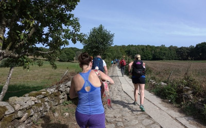 A women taking part in the Camino route
