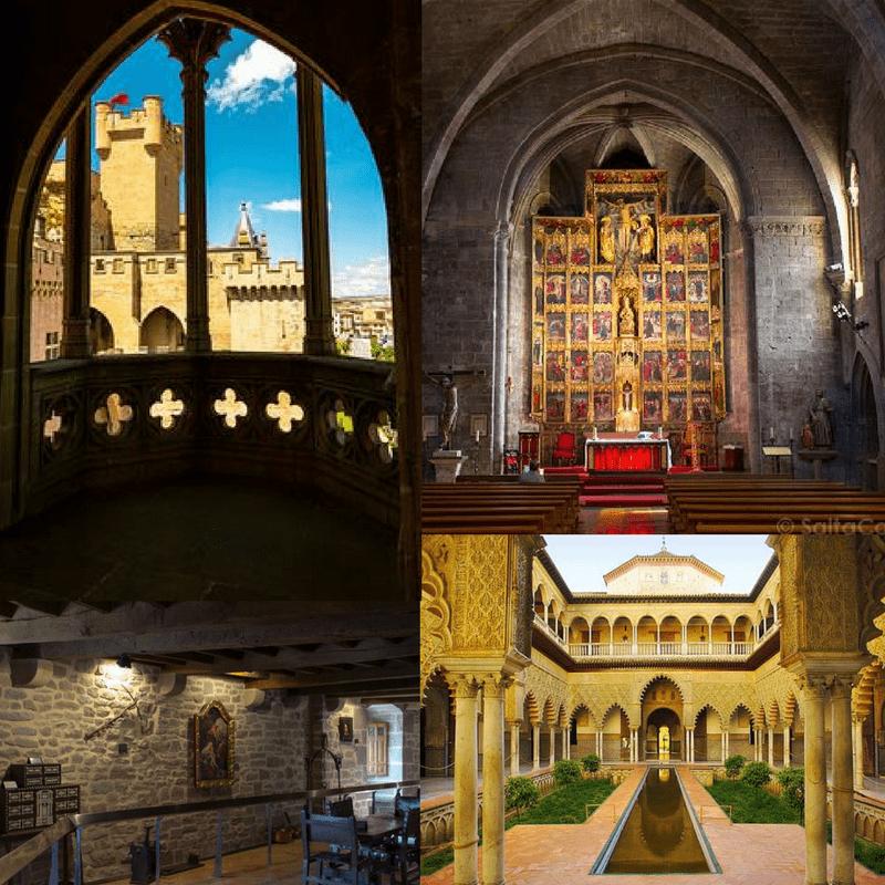 Interior of Castle Olite