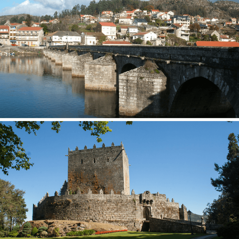 Puente Sampaio Bridge and Castle of Soutomaior