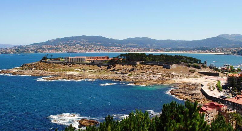 Overlooking the coastal landscape
