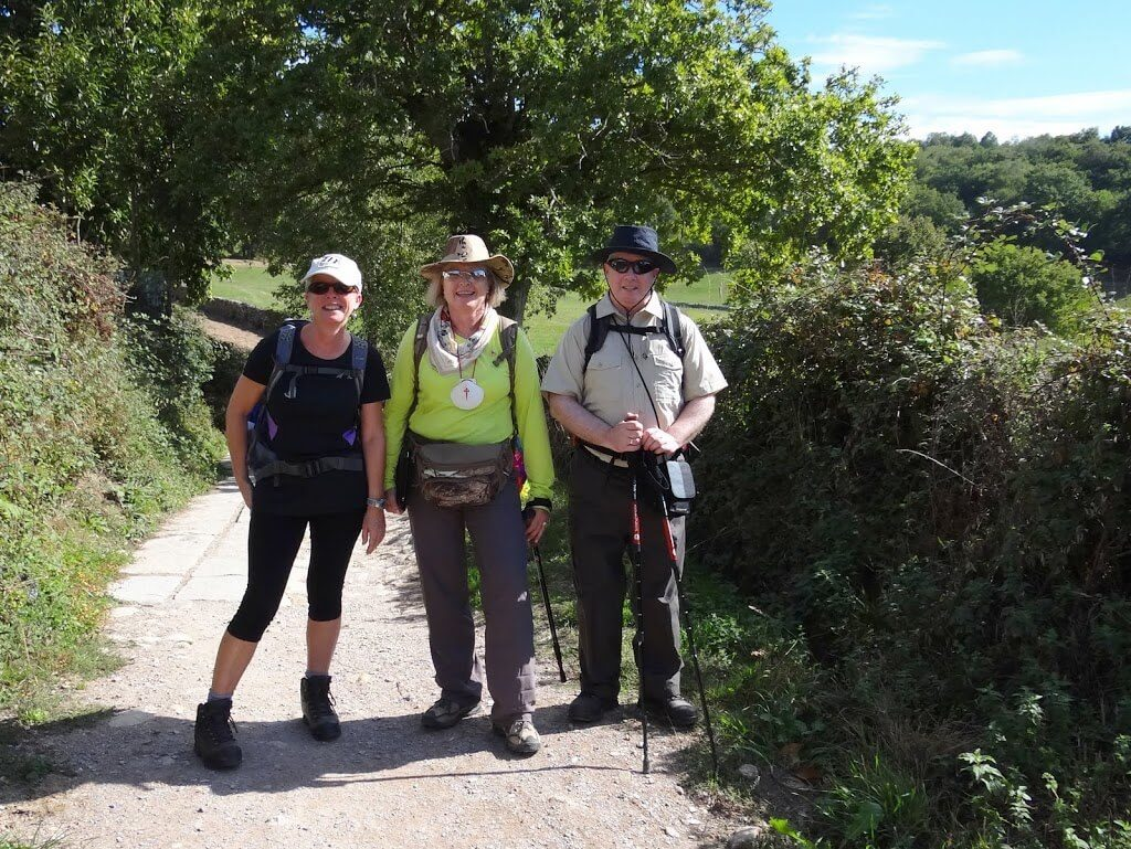 a group of pilgrims on the Camino