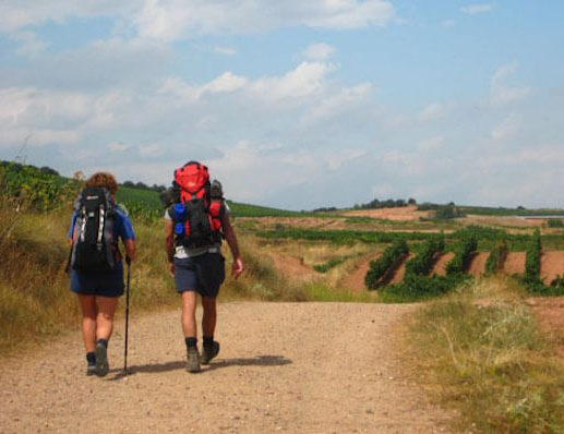 Pilgrims walking the Camino Frances 4