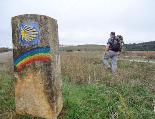 Rainbow marker Camino Frances 6