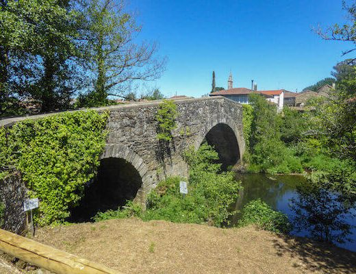Bridge along the last 100km to Santiago Camino Frances Easy Days