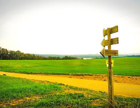 Signage for Camino Mozarabe 1