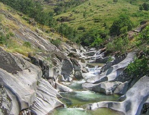 Stream waterfall on Camino Mozarabe 3
