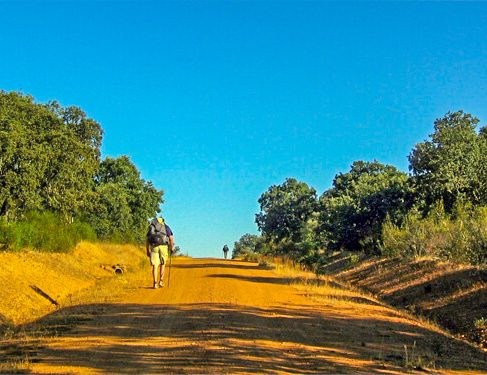 Orange/yellow trail on Camino Mozarabe 7