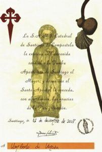 Pilgrim Certificate