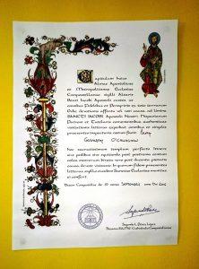 Compostela - Pilgrim Certificate