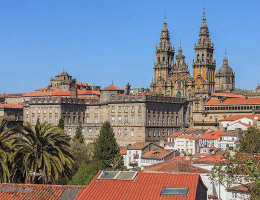 The Whole Camino Frances - Last stop santiago de Compostela Cathedral