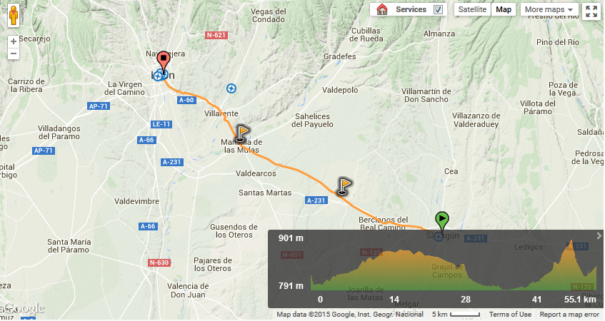 Camino Frances from Sahagun to Leon