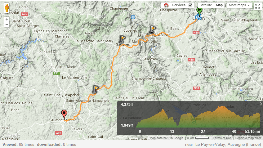 Via Podiensis from le Puy en Velay to Aumont Aubrac