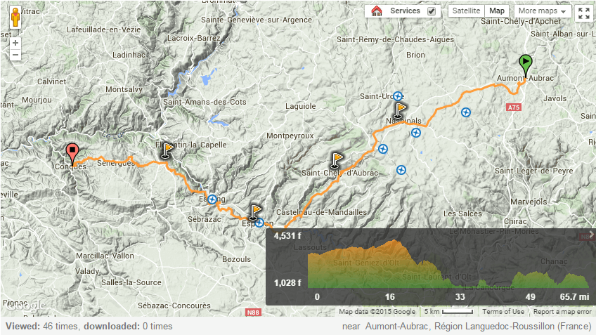 Via Podiensis from Aumont Aubrac to Conques