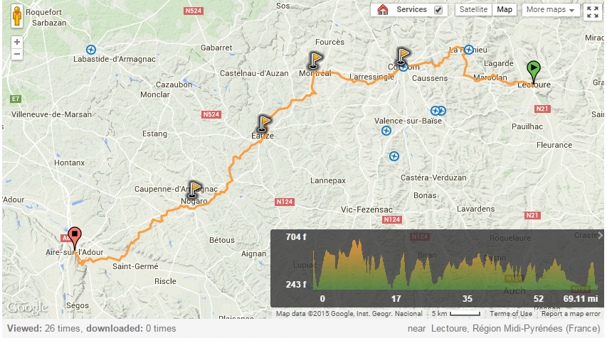 Via Podiensis from Lectoure to Air-sur-l'Adour
