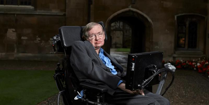 Stephen Hawking in wheelchair