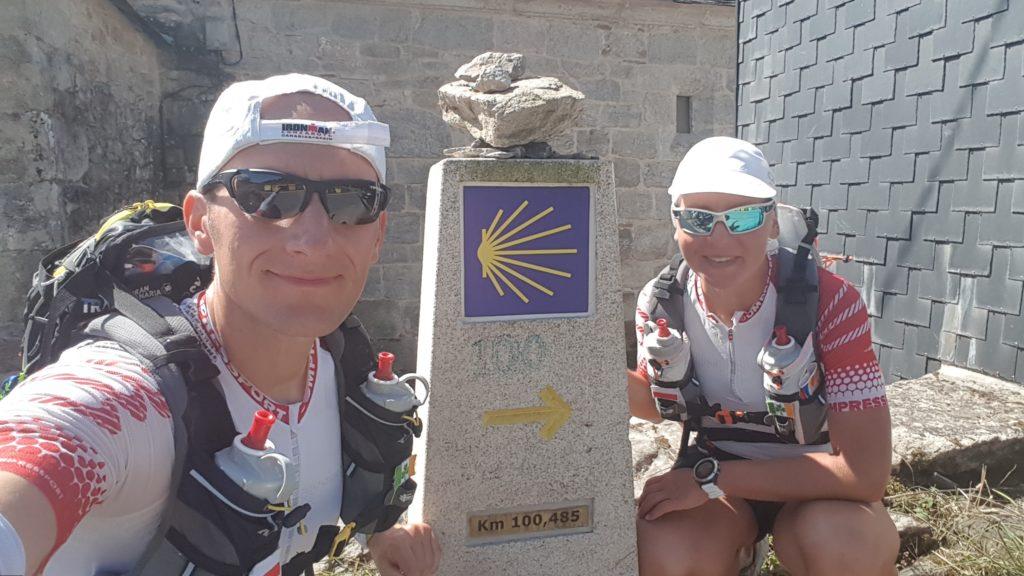 Camino on the run waymark