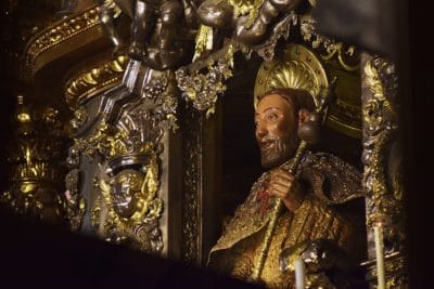 St James the Great Statue in Santiago de Compostela Cathedral