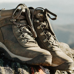 Hiking boots used on the Camino routes