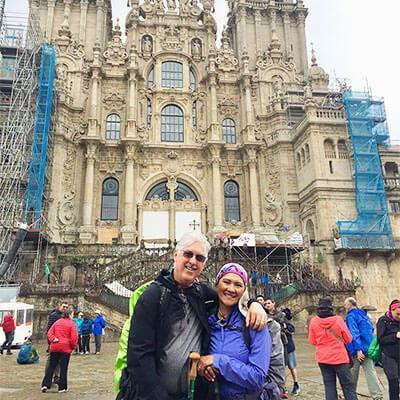kenneth strange and wife at Santiago de Compostela