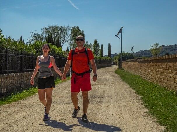 Couple walking Via Francigena - last 100km