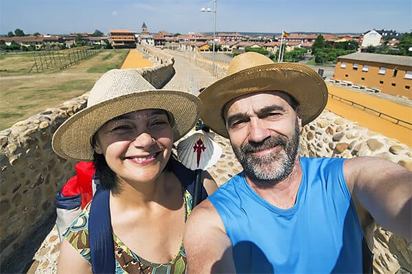 couple on the Camino