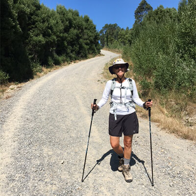 solo traveller on the camino