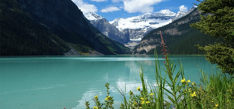 Lake Louise - a popular hiking area in canada