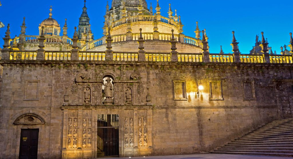 the holy door on the cathedral in Santiago