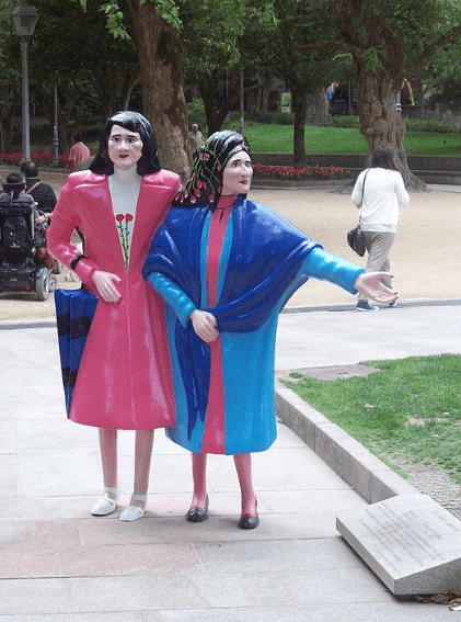 """The """"Two Marias"""" in Santiago."""