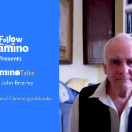 title page for Camino talks interview with John Brierley Camino Author