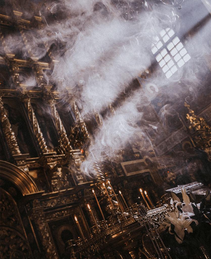 Smoke in a Church.