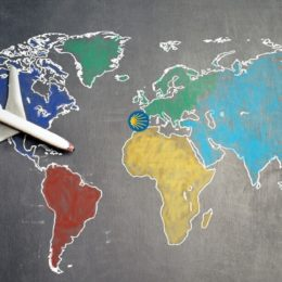 a plane on a map fling t the Camino de Santiago