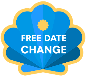 Stand out shell free date change notice when booking with Follow the Caminno