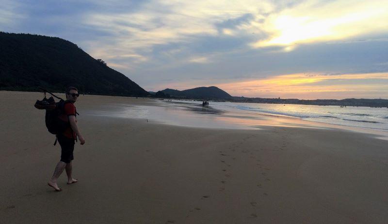 play berria beach noja camino del norte walking barefoot