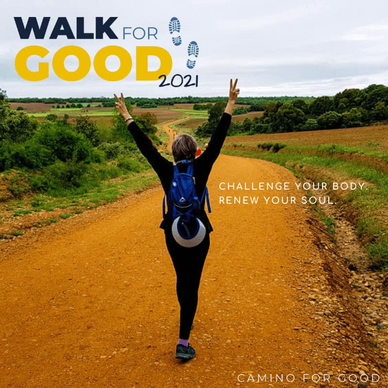 Walk for Good poster from the Camino for Good app