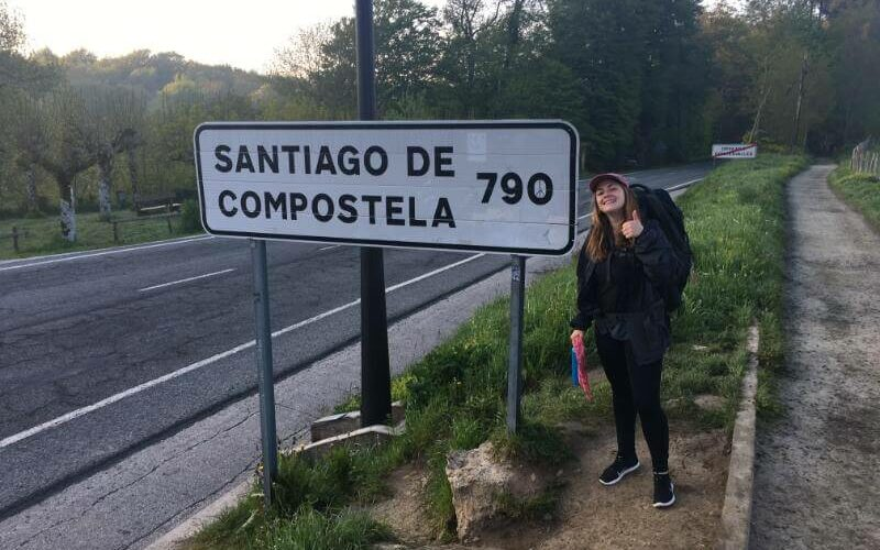 young woman walks the camino solo by herself in life-chainging journey
