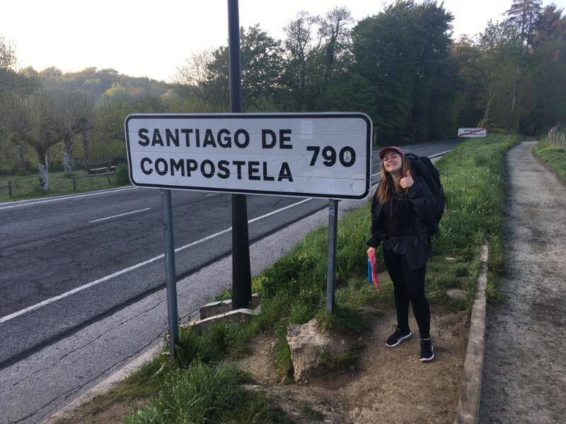 Leona, a young woman on the camino de santiago by herself - a life changing experience