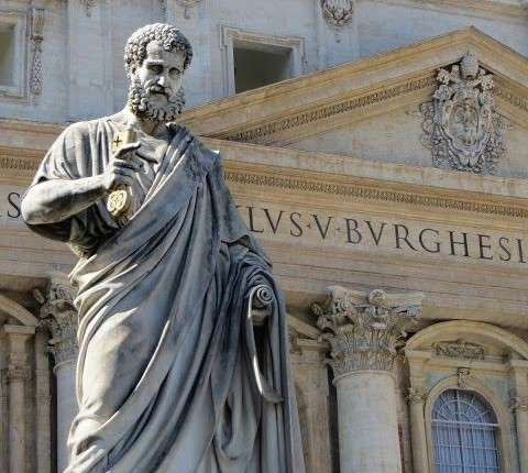 Statue of Saint Peter in Rome