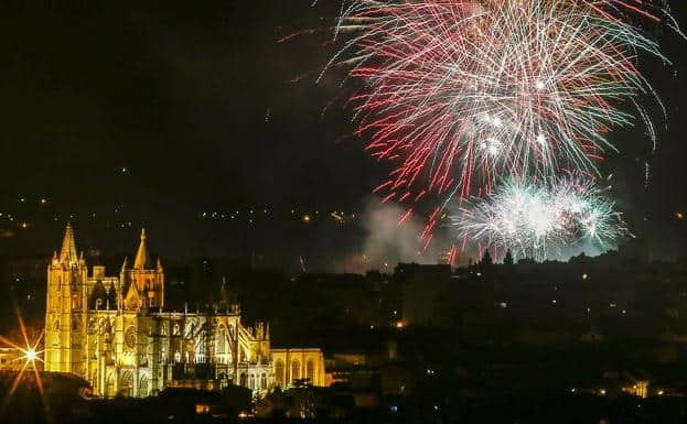 festival in Leon celebrating St Peter's day with fireworks