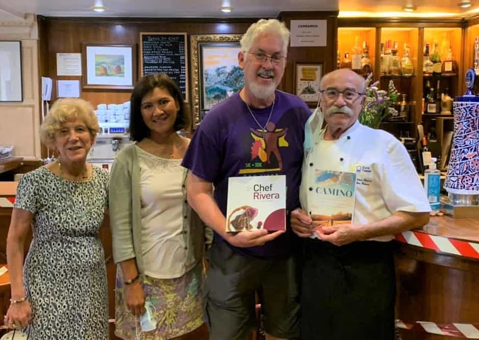 Ken and Rory with Chef Rivera on their Camino Portuguese