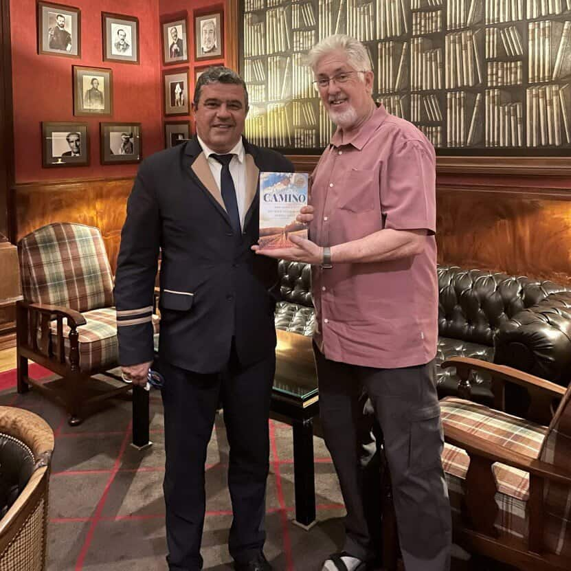 kenneth strange at the start of his Camino Portuguese pilgrimage in July 2021