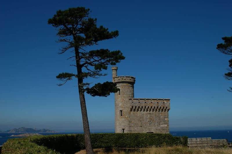 Baiona Galicia Castle Coast Tree Camino Portuguese Coastal